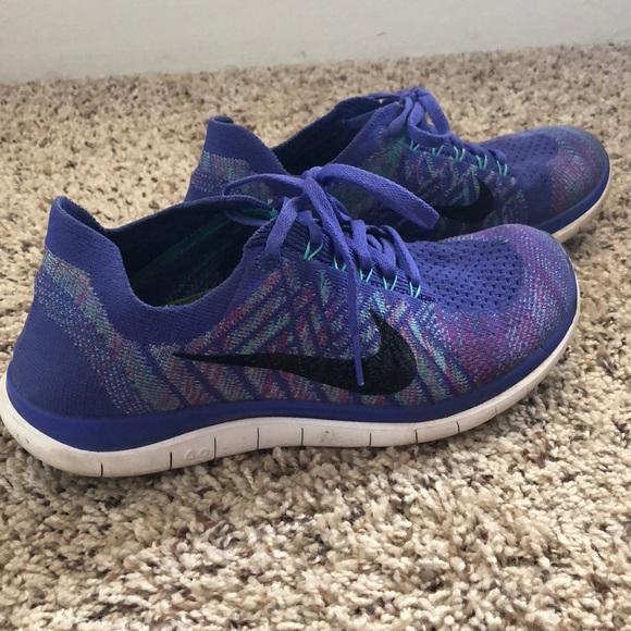 sports shoes 205e3 81a1c Purple Nike free 4.0 flyknit shoes. M 5b7ec1aa800deed44ba29a1f